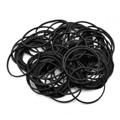 Tattoo Rubber Bands Black Silicone